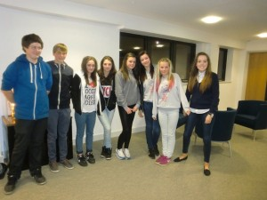 Members of Hanham Youth Club spoke at the meeting
