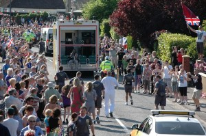 Crowds turned up for the Olympic torch procession last year