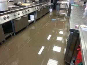 flooded kitchen