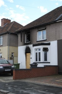 Their home in Wilshire Avenue, Hanham, was destroyed in the blaze