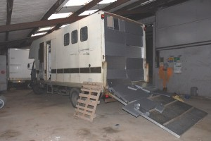 Police found cannabis plants inside a horse transporter