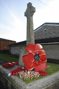 There will be a service of Remembrance at the war memorial in Hanham