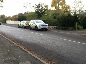 Police were called to Grange Road in Saltford today by concerned neighbours