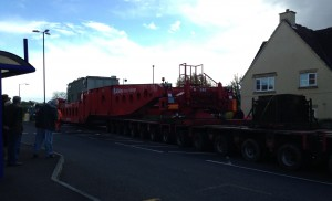 The heavy load comes along the A420 at Bridgeyate