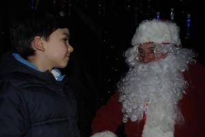 Noah meets Santa at the Downend Christmas festivities tonight