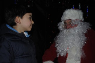 Noah meets Santa at the Downend Christmas festivities tonight