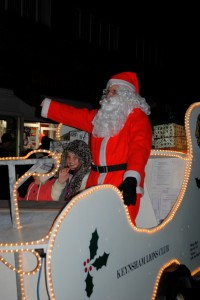 Father Christmas will again be coming to Keynsham for the Victorian Evening