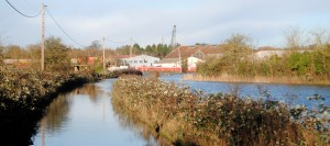 The boatyard in Keynsham has been cut off by flooding
