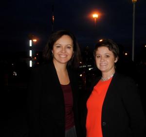 Caroline Flint, left, with Jo McCarron