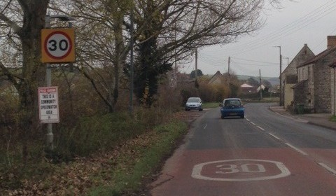The 30mph limit through the village of Farmborough near Keynsham is flouted by many drivers