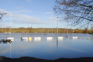 The new lake at Keynsham Rugby Club's playing fields