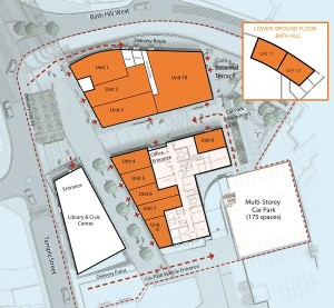 Retail units available to rent at the Markeplace