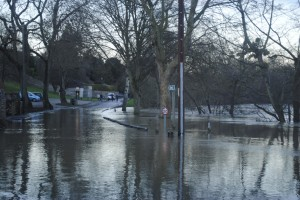Flooding at The Shallows in Saltford