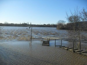 Dave Laming: 'Somewhere under there is road to my boatyard'