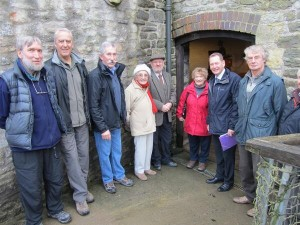 Sir Graham meeting the volunteer group at Saltford Brass Mill
