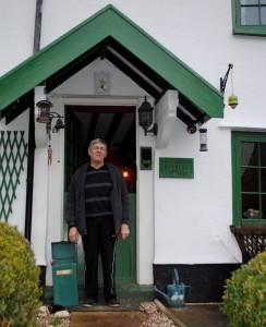 Steve Godwin outside his home at Riverside Cottages in Hanham