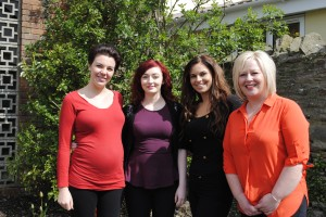 Aphrodite staff, from left, Lydia Asante, Ayla-Rose Baber, Aimee Harrison and Sadie Nicholls