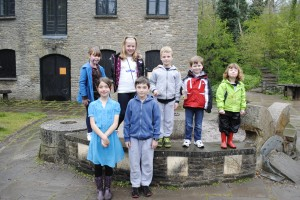 Enjoying the Easter fun day at Willsbridge Mill are, back from left, Phoebe, Chloe, Owen, Jack and Rosie, with Sophie and William at the front