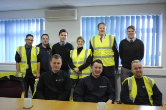 Toby Perkins and Jo McCarron met apprentices and staff who began their career on apprenticeships