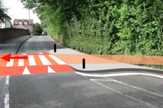 One of the proposed zebra crossings