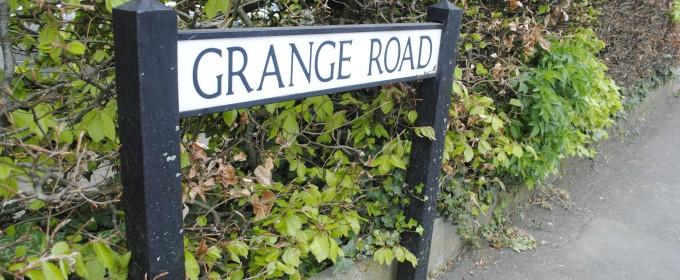 grange road sign