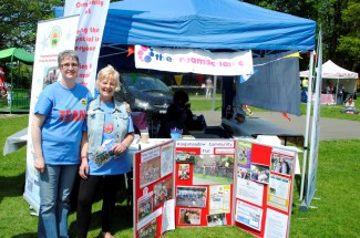 Jane Curtis and Lorraine Smith from the Kingsmeadow Community Flat