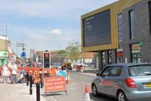 Temporary traffic lights are causing serious disruption around Keynsham
