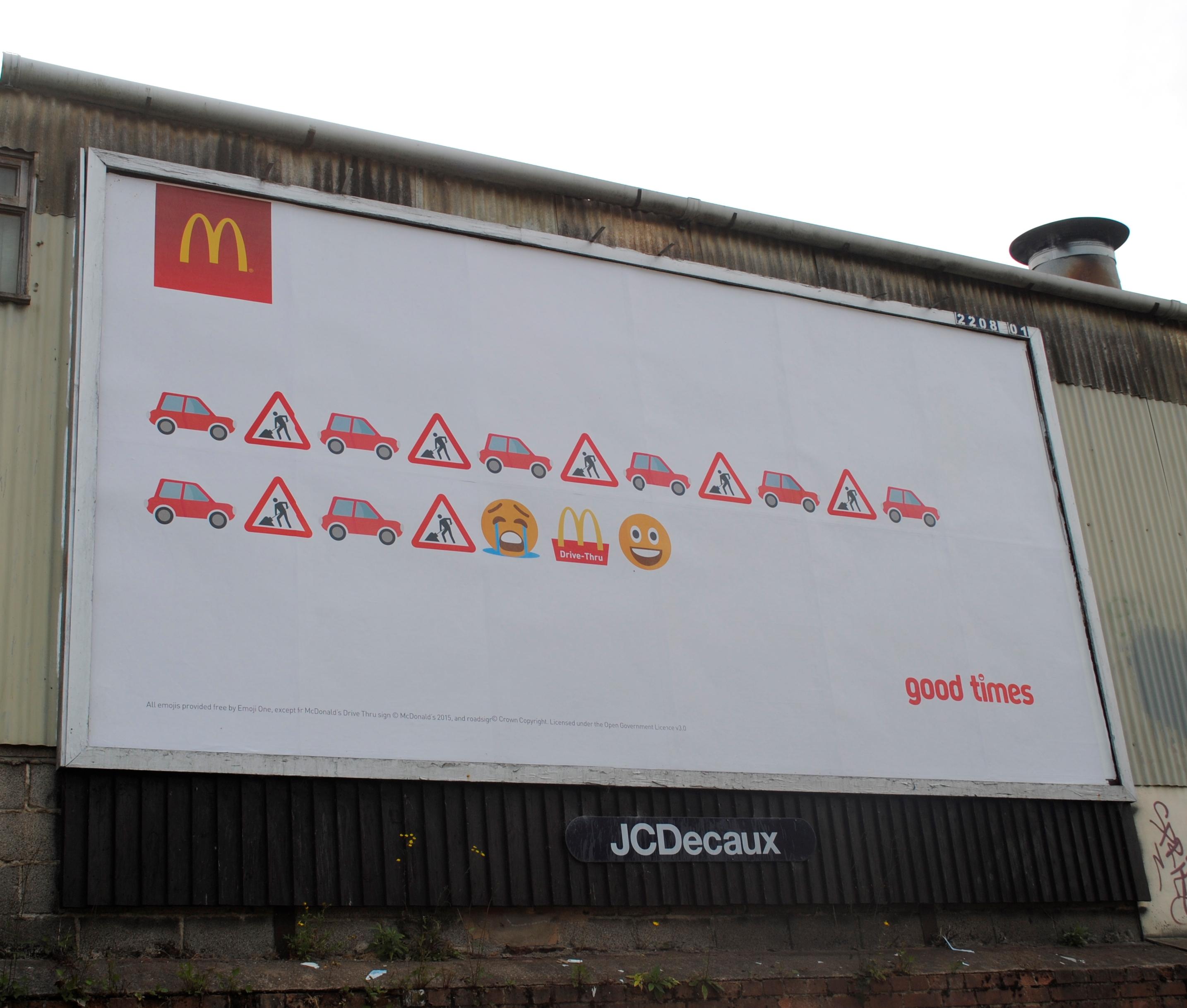 Fury As Giant McDonald's Drive-Thru Adverts Go Up Around