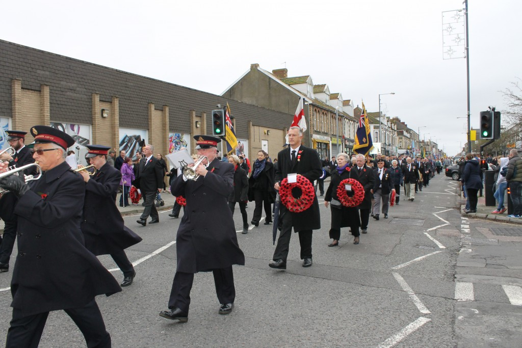 The parade to Page Park in Staple Hill