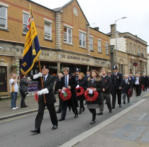 The parade through Kingswood