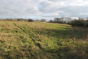 The site of the proposed mixed-use development