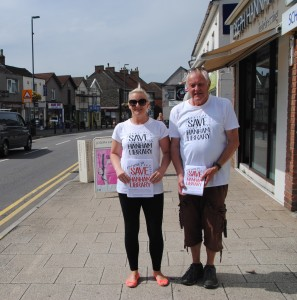 Clair & Martin Wallis delivering campaign leaflets