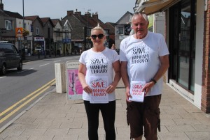 Clair & Martin Wallis delivering campaign leaflets