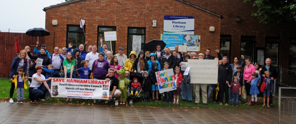 Hanham Library campaigners, pictured here last September, say they are not giving up their fight