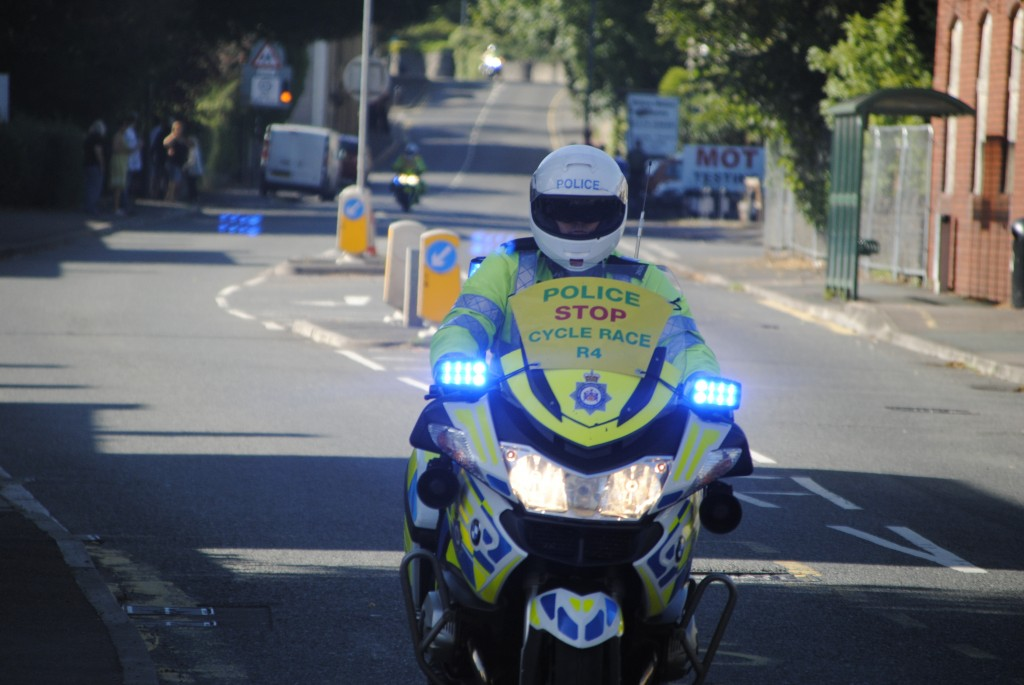 Pictures of the Tour of Britain passing through Bitton
