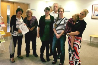 Campaigners including nursery owner Julia Davis, left, attended yesterday's council meeting