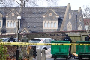 Police search bins at St George's House