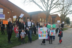 Save Hanham Library campaigners have held several protests